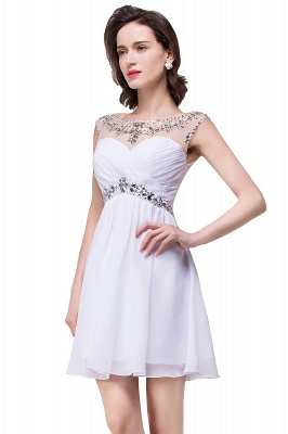 Cheap A-line Jewel Chiffon Party Dress With Crystal in Stock_11