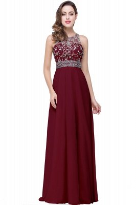 ADALYN | A-line Jewel Chiffon Prom Dress with Beading,Crystal_1