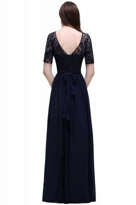 Cheap Half-Sleeve Lace Long Chiffon Evening Dress in Stock_10