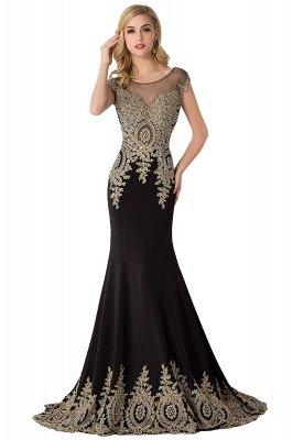 ABIGAIL   Mermaid Court Train Chiffon Evening Dress with Appliques_5