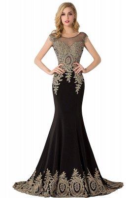 ABIGAIL   Mermaid Court Train Chiffon Evening Dress with Appliques_6