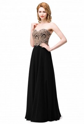 Cheap Women's Strapless Embroidery Beaded Prom Formal Dress in Stock_2