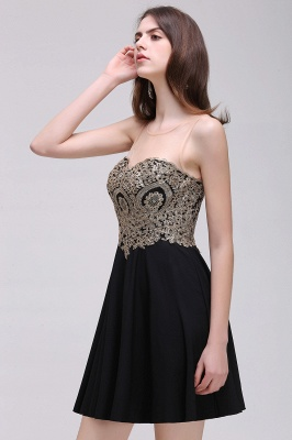 Cheap Black Short A-line Homecoming Dress in Stock_8