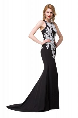 Cheap Mermaid Evening With Appliques For Women Formal Long Prom Dress in Stock_6