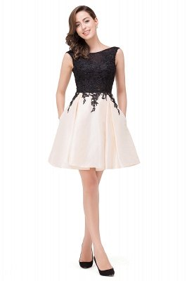 Cheap Short A Line Applique Tutu Prom Party Dress in Stock_12