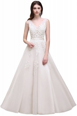 ADDYSON   A-line Floor-length Tulle Bridesmaid Dress with Appliques_2