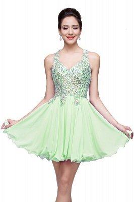 Cheap Chic Crisscross-straps Crystal Beads Ruffle Chiffon Sweetheart Short Prom Dress in Stock_6