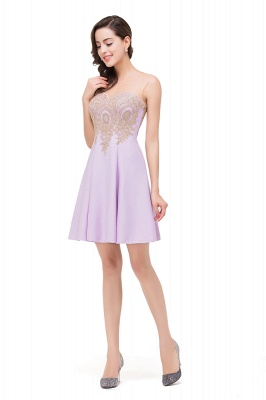 Cheap Short Applique Sleeveless Prom Homecoming Dress in Stock_11