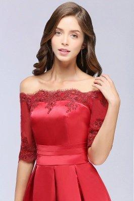 ELLISON | A-line Half Sleeve Floor-length Off-shoulder Appliques Prom Dresses_9