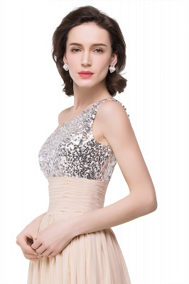 Cheap A-line Floor-length Chiffon Evening Dress with Sequined in Stock_7
