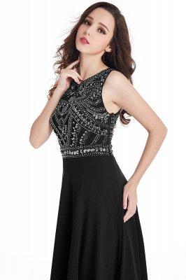 Sheath Jewel Crystals Floor Length Long Chiffon Cheap Prom Dresses_12