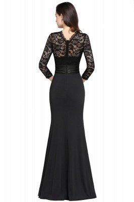 ARIANNA | Sheath High Neck Black Elegant Evening Dresses with Lace_7