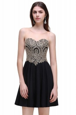 Cheap Black Short A-line Homecoming Dress in Stock_4