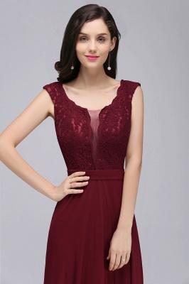 Elegant Lace A-line Long Burgundy Prom Dress_12