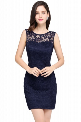 ARYA | Cheap Sheath Scoop Black Lace Homecoming Dresses | Sexy Short Prom Dresses_5
