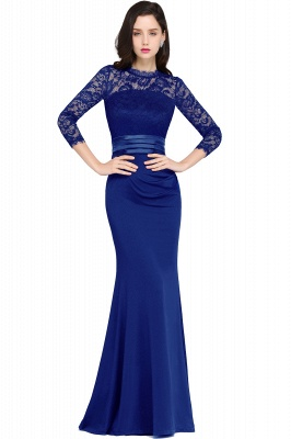 ARIANNA | Sheath High Neck Black Elegant Evening Dresses with Lace_3