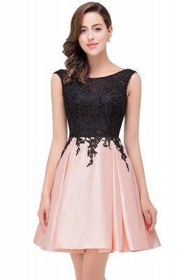 EVA   A-line Sleeveless Short Lace Appliques Prom Dresses_2