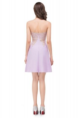 Cheap Short Applique Sleeveless Prom Homecoming Dress in Stock_7