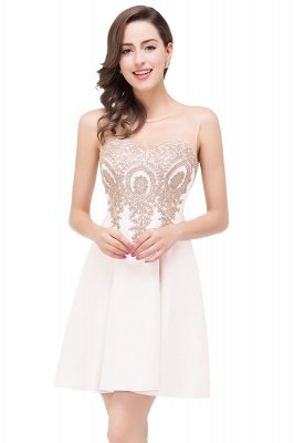 ESTHER | A-line Sleeveless Appliques Chiffon Short Prom Dresses_1