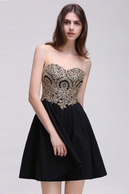 Cheap Black Short A-line Homecoming Dress in Stock_7