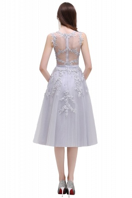 EMORY | Crew Tea Length Lace A-Line Appliques Short Prom Dresses_13
