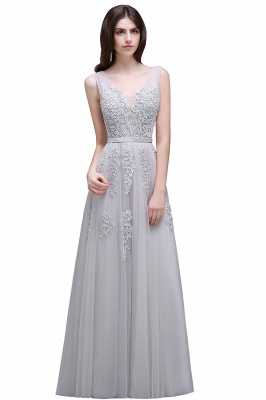 ADDYSON   A-line Floor-length Tulle Bridesmaid Dress with Appliques_9