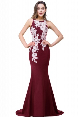 Cheap Mermaid Evening With Appliques For Women Formal Long Prom Dress in Stock_1