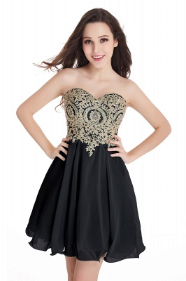 Sweetheart Mini Cheap Appliques Short 2019 Homecoming Dresses_7