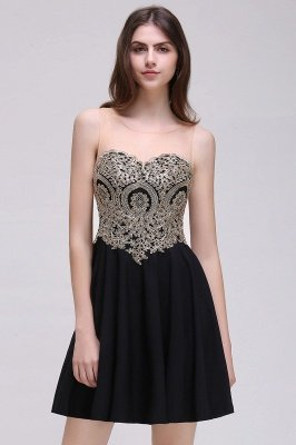 Cheap Black Short A-line Homecoming Dress in Stock_6