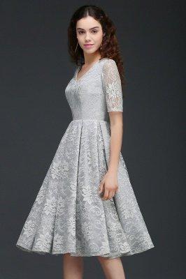 ALEXANDRA  Cheap A Line V Neck Lace Short Homecoming Dresses_1