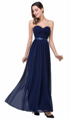ADELINA | Simple A-line Strapless Chiffon Bridesmaid Dress with Draped_3