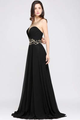 A-line Scoop Chiffon Prom Dress With Lace_6