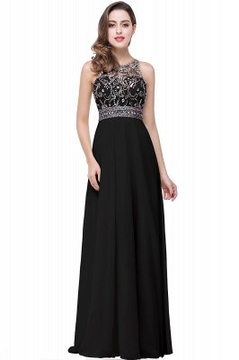 ADALYN | A-line Jewel Chiffon Prom Dress with Beading,Crystal_5