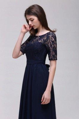 Cheap Half-Sleeve Lace Long Chiffon Evening Dress in Stock_13