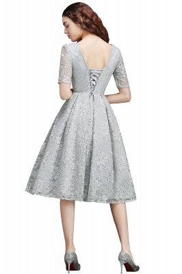 ALEXANDRA  Cheap A Line V Neck Lace Short Homecoming Dresses_3