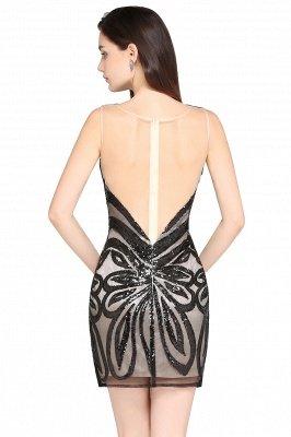 AMALIA | Sheath Short Black Sexy Cocktail Dresses_3