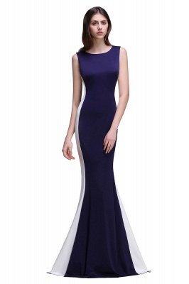 Mermaid Long Dark Navy Simple Prom Gowns_1