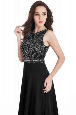 Sheath Jewel Crystals Floor Length Long Chiffon Cheap Prom Dresses_14