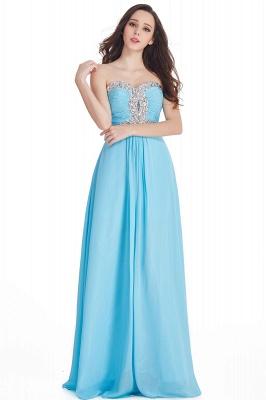 CRYSTAL | Sheath Floor-Length Sweetheart Chiffon Prom Dresses with Crystals_2