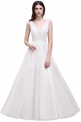 ADDYSON   A-line Floor-length Tulle Bridesmaid Dress with Appliques_1