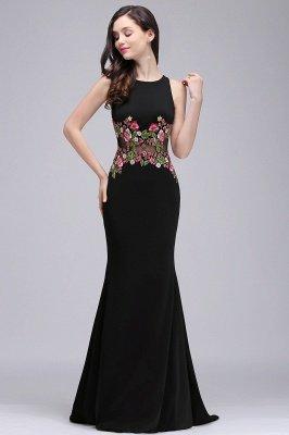 ELAINE | Mermaid Floor-length Sleeveless Prom Dresses with Embroidery-flowers_5