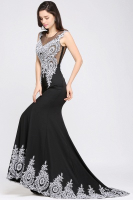 ARIYAH | Mermaid Scoop Black Pretty Evening Dresses with Appliques_7