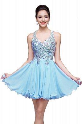 Cheap Chic Crisscross-straps Crystal Beads Ruffle Chiffon Sweetheart Short Prom Dress in Stock_3