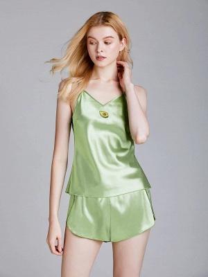 Imitate Silk Sleepwear Pajamas Set_2