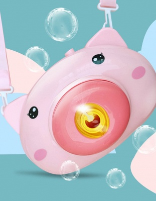 Pig Animal Soap Children Bubble Maker Camera Bath Wrap Machine Toys Bubble Gifts for Kids and Girls_3