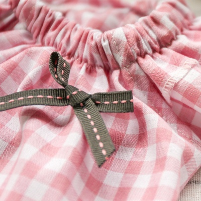Two Colors Short Sleeve Grid Bows Dog T Shirts | Cute Pets Apparel_5