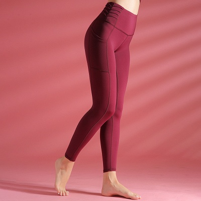 Women yoga pants High Waist Sports Gym Wear Leggings Elastic Fitness Lady Overall Full Tights Workout_4