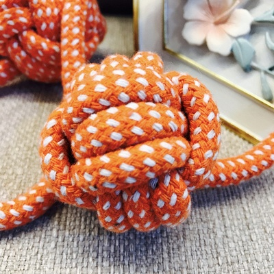 Puppy Chew Teething  Cotton Cleaning Rope Dog Cat Knot Toys_4
