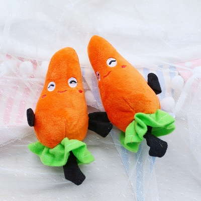 Vegetable Puppy Plush Sounding Pet Toys