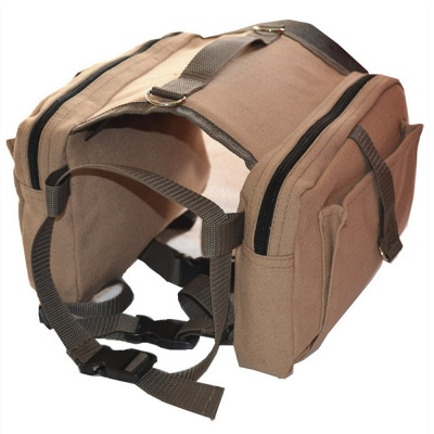 Lightweight Dog Canvas Backpack Harness with Adjustable Straps_2